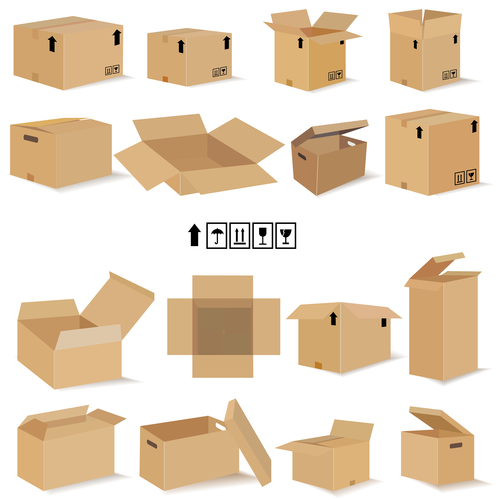 cardboard box packaging template vector 02 free download