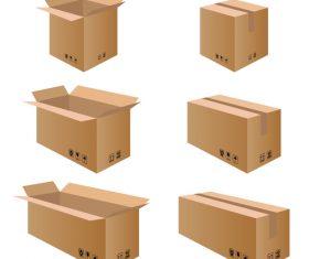 Cardboard box packaging template vector 03