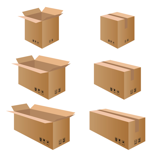 cardboard box packaging template vector 03 free download