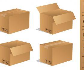Cardboard box packaging template vector 05