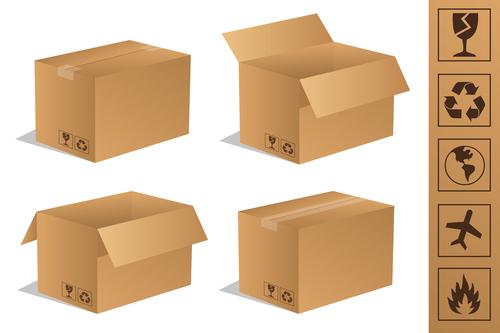 cardboard box packaging template vector 05 free download