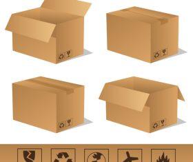 Cardboard box packaging template vector 06