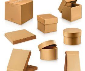Cardboard box packaging template vector 07