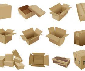 Cardboard box packaging template vector 08