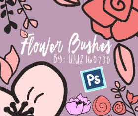 Cartoon Flower Photoshop Brushes