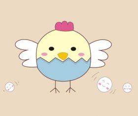 Cartoon animal chick vector