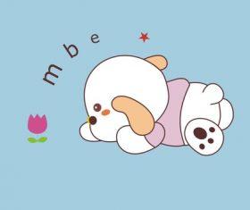 Cartoon animal puppy design vector
