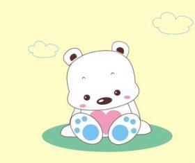 Cartoon animal sleepy bear vector
