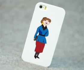 Cartoon character mobile phone shell vector