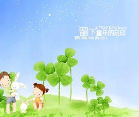 Cartoon childhood vector