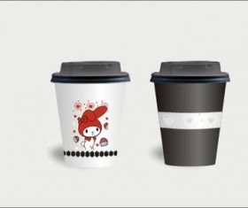 Cartoon coffee cup vector