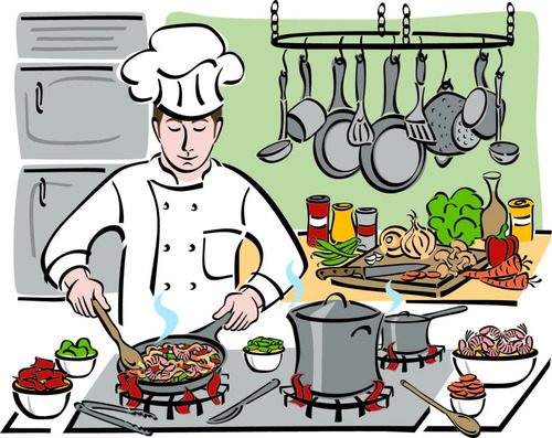 Cartoon Cooking Chef Vector Free Download
