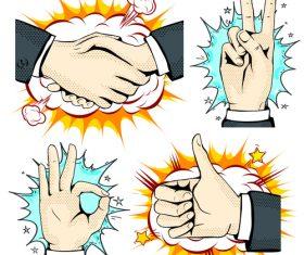 Cartoon hand vector illustration