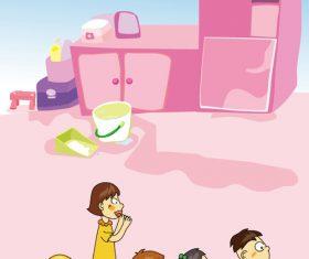 Cartoon kindergarten vector