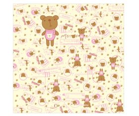Cartoon pink print bear vector