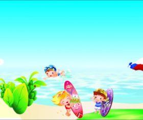 Cartoon swimming vector