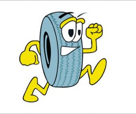 Cartoon tire picture vector
