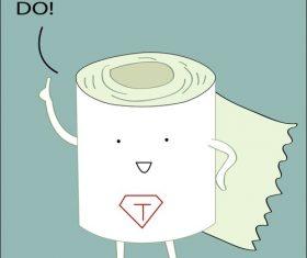 Cartoon toilet paper vector