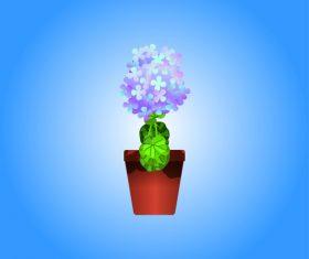 Cartoon vector flower bonsai vector