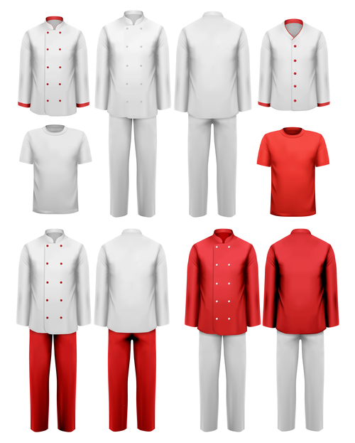 Chef work clothes template vector 01 free download for Chef template resource