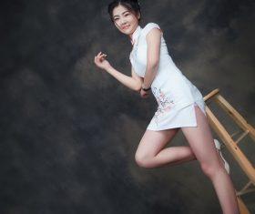 Cheongsam Girl Art Photo Stock Photo