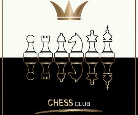 Chess club background vector
