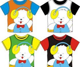 Childrens T-shirt cute cartoon bear vector