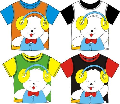 Childrens T shirt cute cartoon bear vector