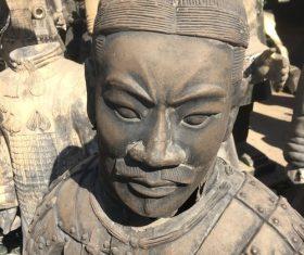 Chinese Qin Terracotta Warriors Statue Stock Photo