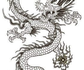 Chinese dragon vector material