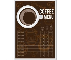 Coffee menu template design vectors 02