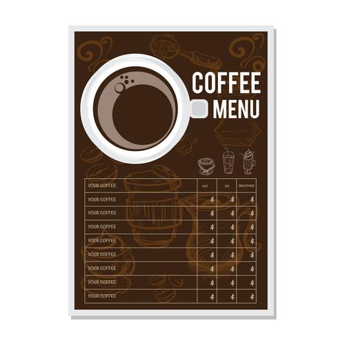 Coffee Menu Template Design Vectors 02