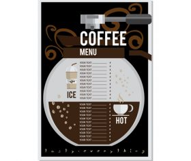 Coffee menu template design vectors 04