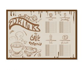 Coffee menu template design vectors 06