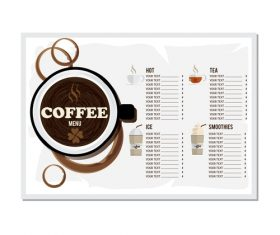 Coffee menu template design vectors 07