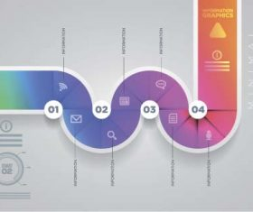 Colored abstract infographic vector template 03