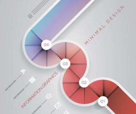 Colored abstract infographic vector template 04