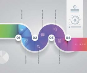 Colored abstract infographic vector template 05