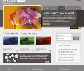 Company website template modern design vector
