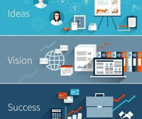 Conpect business banner infographic template vector