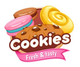 Cookies labels vectors