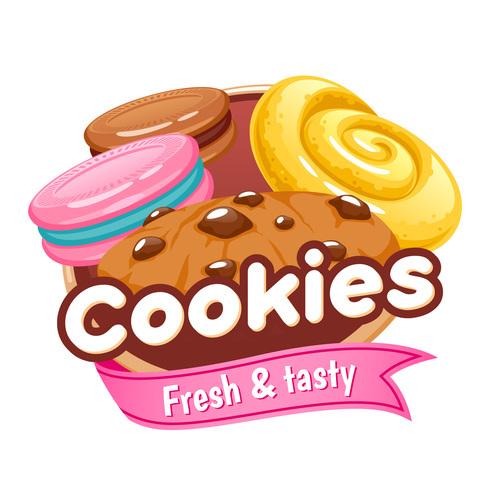 Cookies labels vectors
