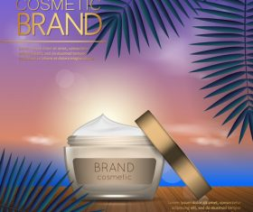 Cosmetic brand poster vector 01