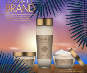 Cosmetic brand poster vector 02