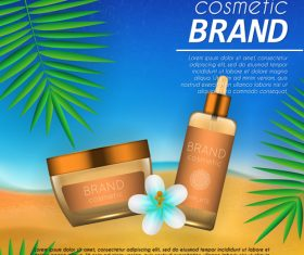 Cosmetic brand poster vector 03