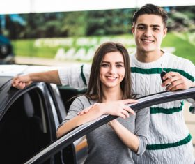 Couple buying new car Stock Photo 02
