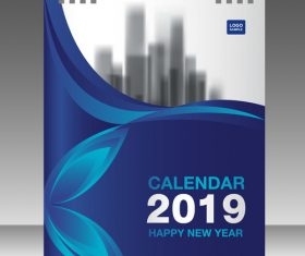 Cover Calendar 2019 year vector tempalte 03