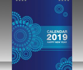 Cover Calendar 2019 year vector tempalte 07