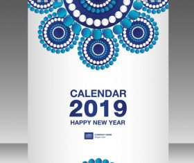 Cover Calendar 2019 year vector tempalte 08