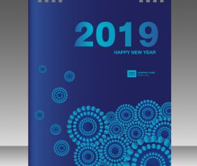Cover Calendar 2019 year vector tempalte 09